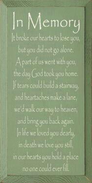 Memorial poem for my grandma