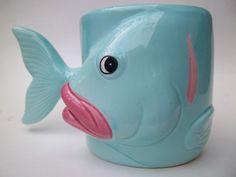 Hawaiian fish coffee mug