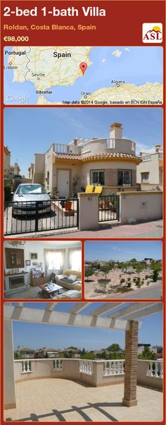 2-bed 1-bath Villa in Roldan, Costa Blanca, Spain ►€98,000 #PropertyForSaleInSpain