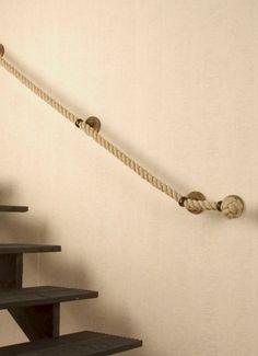 Ingenioso pasamanos con cuerda en iManualidades.com: manualidades y bricolage