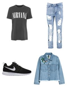 """Untitled #1"" by baloglora ❤ liked on Polyvore featuring Topshop, H&M, Boohoo and NIKE"