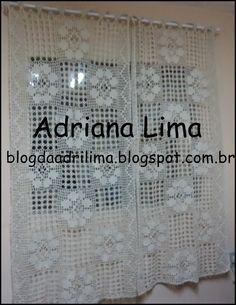 Adriana Lima: Minha cortina de crochê