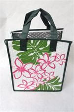 Tropical Paper Garden Hot & Cold Reusable Bag Plumeri White Multi
