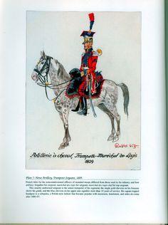 Artillery: Plate 7: Horse Artillery, Trumpeter Sergeant, 1809.