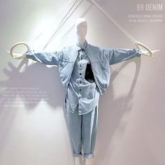 "SELFRIDGES, London, UK, ""69 GENDERLESS DENIM"", (WARNING: Gymnast could flip at any moment), pinned by Ton van der Veer"