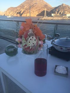 Beautiful artwork at Breathless Cabo San Lucas! Fondue is one of the dessert options for a destination wedding reception!