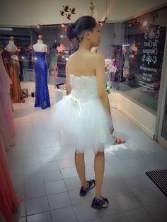 White cocktail dress +loafer