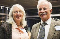 Artist Mary Oestereicher Hamill, Ph.D. and retired pediatrician John Neale, M.D.