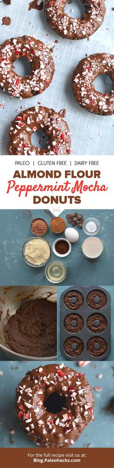 These decadent (and easy to make) Paleo Peppermint Mocha Donuts covered in dark chocolate glaze will steal your baking heart. Get the full recipe here: http://paleo.co/mintmochadonuts