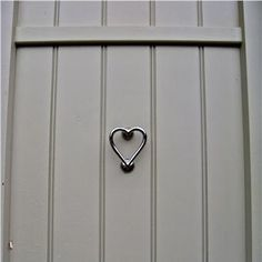 Front Door in French Gray with a stunning nickel heart shaped #door knocker - www.willowandstone.co.uk for similar