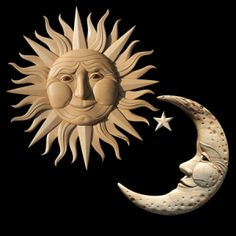 Sun Moon Companion Pieces Crescent Moon Intarsia Pattern Source by The post Crescent Moon Intarsia Pattern appeared first on Curran Carpentry. Intarsia Wood Patterns, Wood Carving Patterns, Sun Moon Stars, Sun And Stars, Intarsia Woodworking, Woodworking Patterns, Woodworking Basics, Moon Art, Wood Sculpture