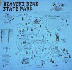 beavers bend state park map