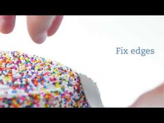 your hands, turn it sideways and roll through the sprinkles until it is completely covered. Congrats, the hard part is over! Cake Icing, Fondant Cakes, Eat Cake, Cupcake Cakes, Frosting, Rainbow Sprinkle Cakes, Rainbow Sprinkles, Cake Decorating Supplies, Cake Decorating Tutorials