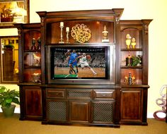 "Home entertainment center designed for a 60"" tv"