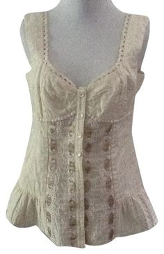 Nanette Lepore Cream Silk Bustier Cropped Tank M Night Out Top Size 8 (M). Free shipping and guaranteed authenticity on Nanette Lepore Cream Silk Bustier Cropped Tank M Night Out Top Size 8 (M)Nanette Lepore Silk Bustier Cropped Tank Top Sz M ...
