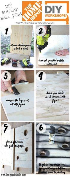 How To Make A DIY Shiplap Ball Toss, Home Depot Sponsored DIY, Home Depot DIY Workshop
