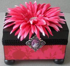 Floral Cameo Keepsake Box by funkyart08 on Etsy, $32.00