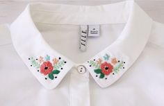 Pretty Floral Embroidered Collar