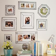 Frames for making a decal gallery wall. | 31 Awesome Decals That Will Completely Transform Your Walls
