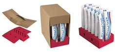 Tube Trays, retail-ready packaging