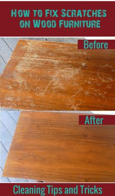 How to fix scratches on wood furniture