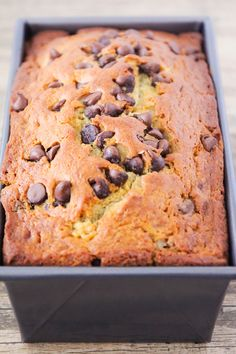 This sweet and delicious chocolate chip banana bread is loaded with chocolate flavor, and super easy to make!