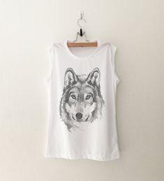 Wolf T-Shirt womens gifts womens girls #tumblr #hipster band merch fangirls teens girl gift girlfriends present #blogger