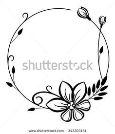 Free clip art black and white flowers flower flourishes clipart round black and white frame with flowers buy this stock vector on shutterstock find other images mightylinksfo Gallery