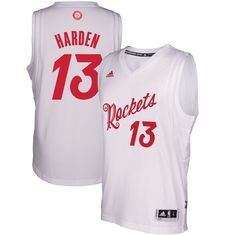 James Harden Houston Rockets adidas 2016 Christmas Day Swingman Jersey -  White 5e78bcb83