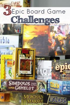 Got games in the closet that aren't getting played?! It's time to take on a Board Game Challenge!! Here are 3 options that will give your year an epic gaming experience!