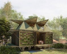 low-cost bamboo housing in vietnam by H&P architects