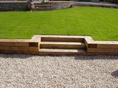 Wooden sleeper steps