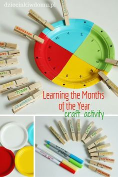 Learning the months of the year - craft activity for kids:
