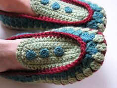 crochet slippers by brettbara, via Flickr