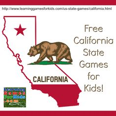 Fun Fact: Today, September 9th, in 1850, #Califfornia became a state. ~> Check out these #free Cali state games for kids! #homeschoolfreebies #homeschoolingresources