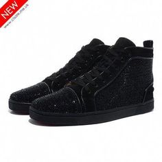 8c69dcb72c78 Christian Louboutin Louis Strass Mens Flat Black
