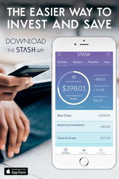 Empower yourself and start investing today with Stash—the app that allows you to become an investor with as little as $5. Build an investment portfolio that reflects who you are by investing in things you like, love and believe in. Start small. Think big.