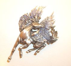 Pegasus Flying Horse JJ pin J.J. brooch. $18.00, via Etsy.