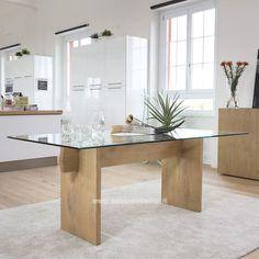 Tavolo Moderno In Legno E Vetro | mobili Casa Idea Stile