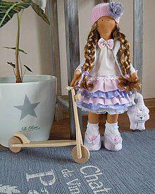 Ružovofialová s mačičkou / Jasmin - SAShE. Cute Baby Girl, Cute Babies, Child Doll, Kids Dolls, Jasmin, Handmade Dolls, Fabric Dolls, Pet Toys, Nursery Decor