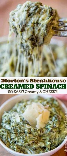 Morton's Steakhouse Creamed Spinach - Creamy, Rich Classic Steakhouse Creamed Spinach Recipe That Takes Just A Few Minutes And Is The Perfect Side For A Holiday Roast Or Prime Rib. Steakhouse Creamed Spinach Recipe, Best Creamed Spinach Recipe, Spinach Dinner Recipes, Cooked Spinach Recipes, Creamed Spinach Casserole, Cream Of Spinach Recipe, Frozen Spinach Recipes, Creamed Spinach Frozen, Healthy Creamed Spinach