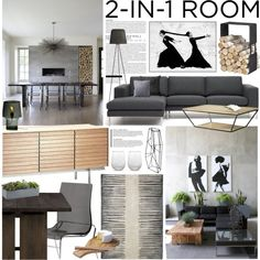 """""""2-in-1 Living-Dining Room"""" by bellamarie on Polyvore"""