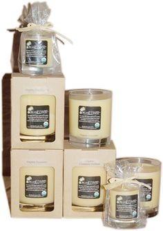 Organic Candle- Made with beeswax, so that they're long lasting and clean burning.