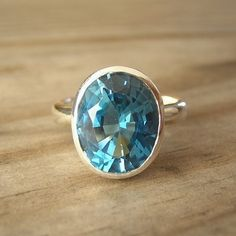 London Blue Topaz Sterling Silver Oval Rock Fetish Ring $262 Etsy