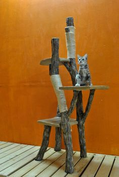 Climb-a-Tree for Cats. I have trees. I could make this!