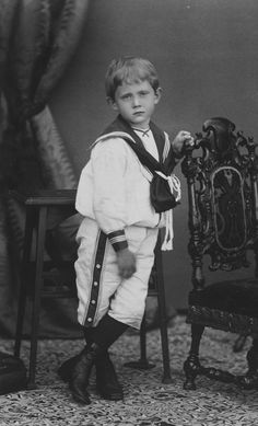 Prince Arthur of Connaught at the age of five in sailor suit 1888