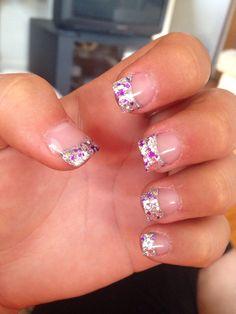 Silver & Purple Acrylic Nails | Randoms! | Pinterest ...
