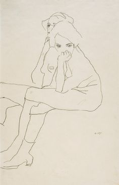 "larissaambachtsheer: "" untitled, 1911 Egon Schiele """