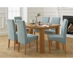 Buy Collection Stonebury Extending Table & 6 Chairs - Duck Egg at Argos.co.uk, visit Argos.co.uk to shop online for Dining sets, Dining room furniture, Home and garden