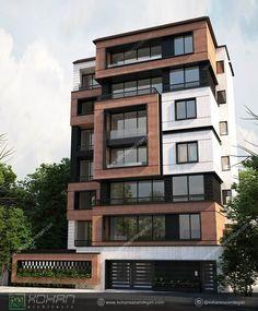 Residential Building Design, Modern Residential Architecture, Architecture Building Design, Building Facade, Modern Architecture House, Facade Design, Modern Buildings, Exterior Design, Commercial Architecture